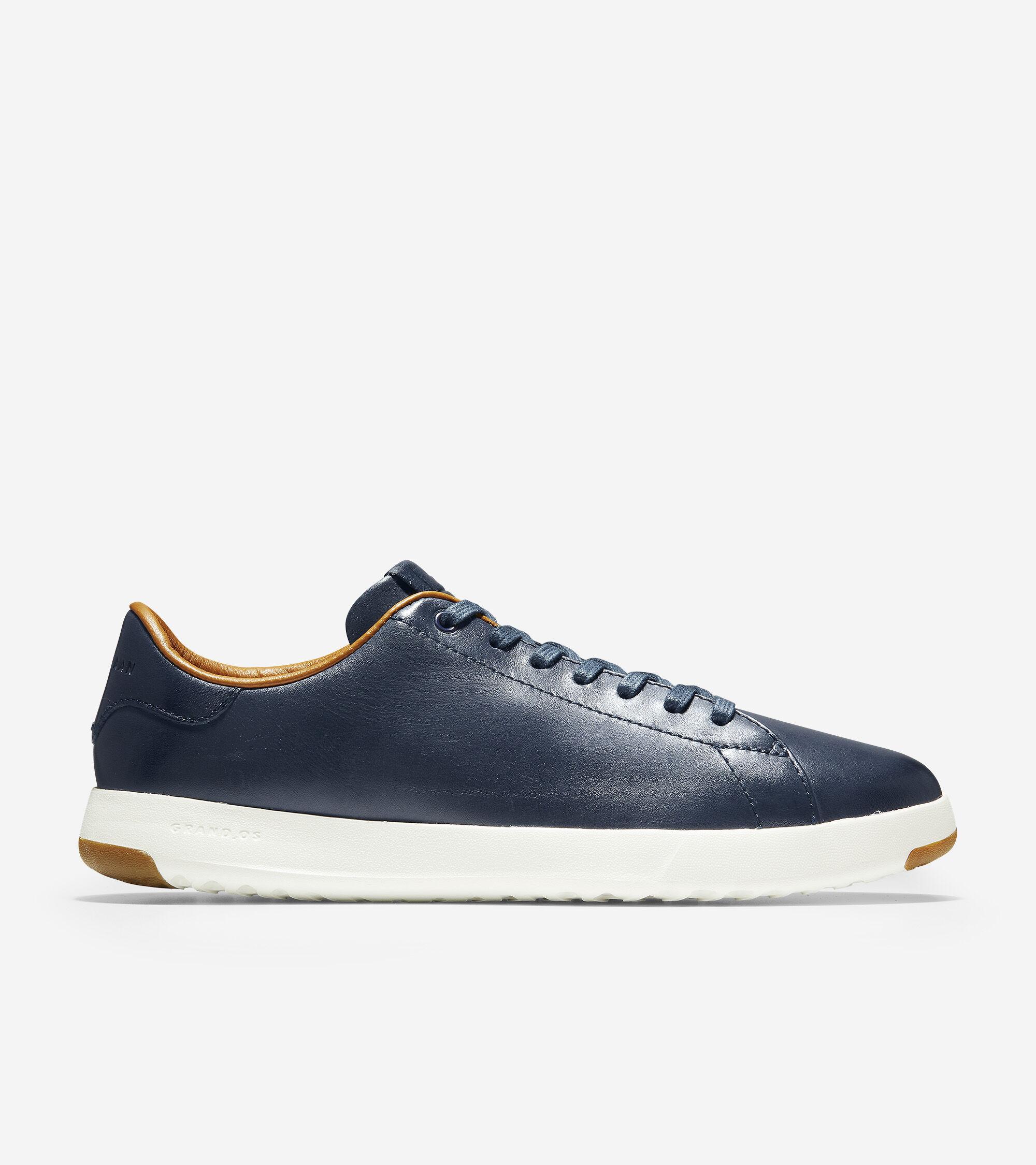 Tennis Sneaker in Blazer Blue Handstain