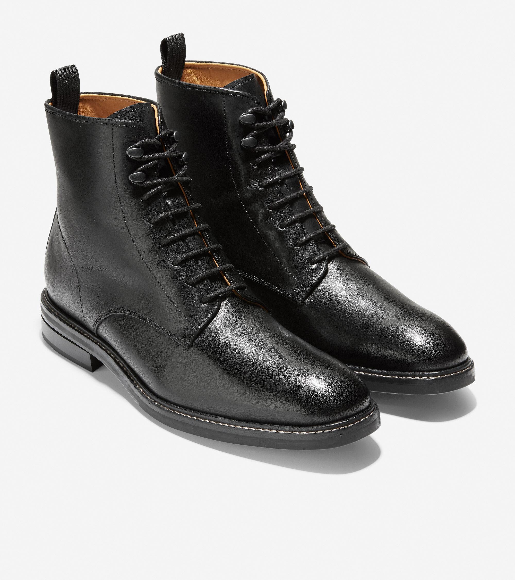 Wagner Grand Plain Toe Boot in Black