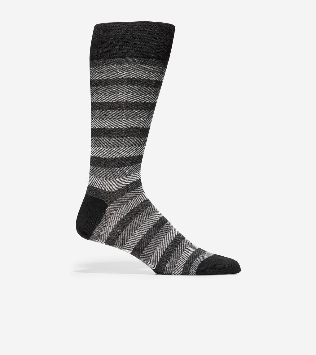 MENS Horizontal Chevron Crew Socks