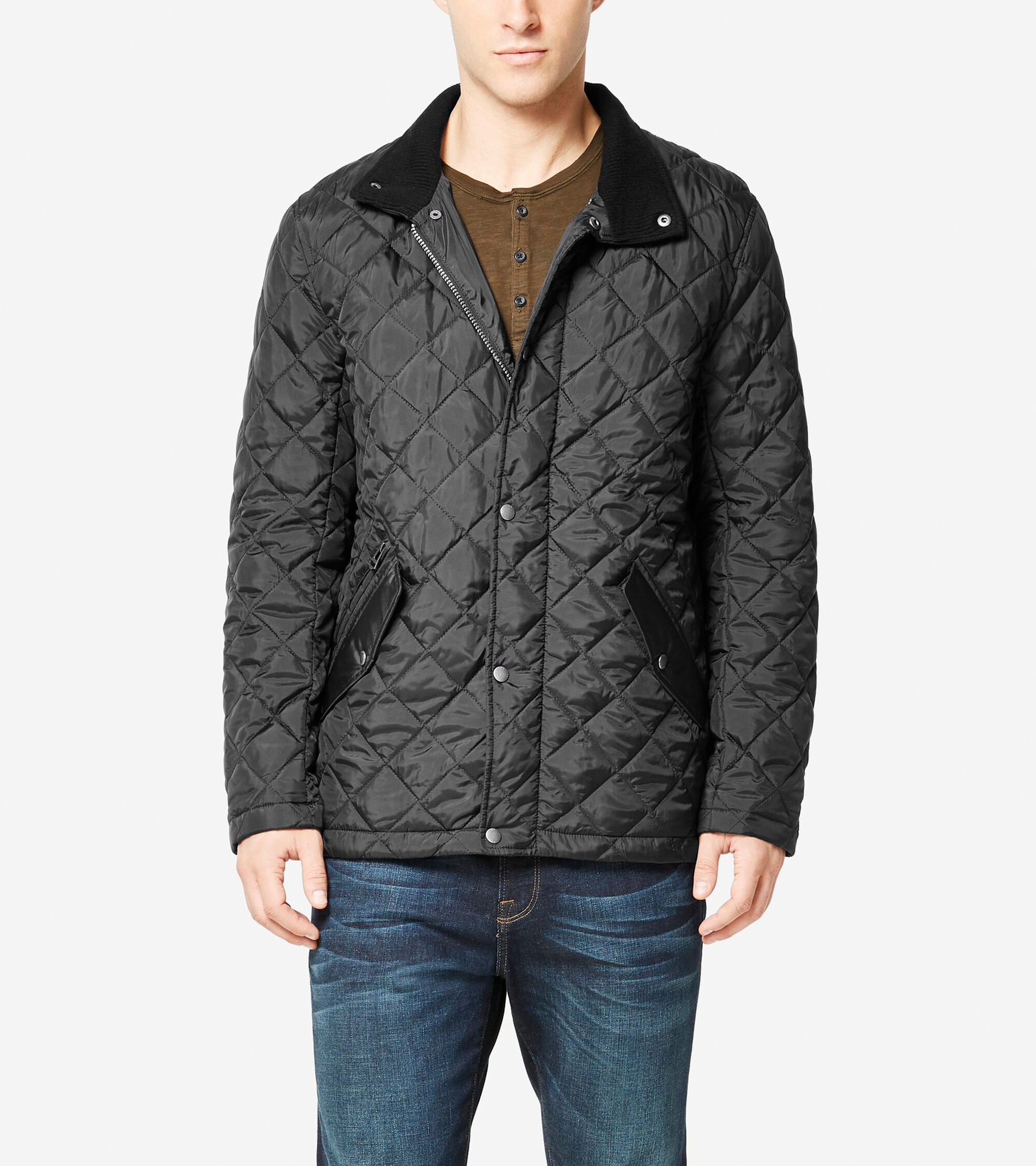 263f693eb1c8be Men s Quilted Stand Co Jacket in Black