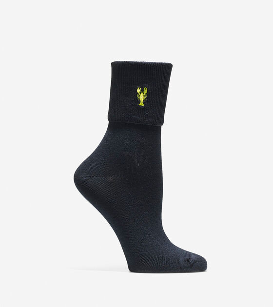 Socks & Tights > Pinch Turn Cuff Crew Socks
