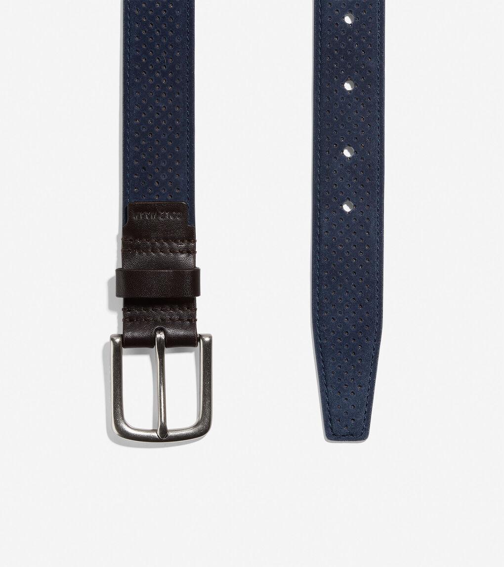 Mens Feathercraft 32mm Perforated Belt