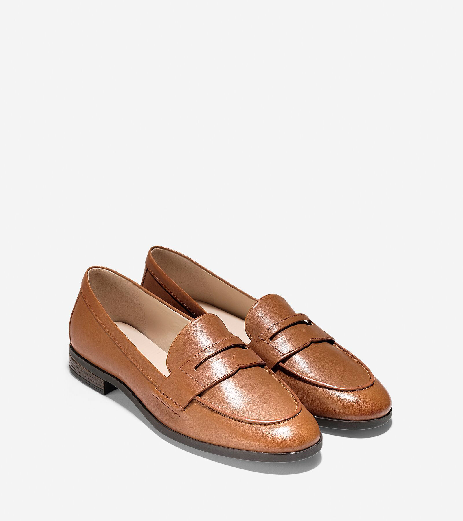 c7618d597fc Womens pinch grand penny loafers in british tan cole haan jpg 2000x2250 Tan  womens loafers