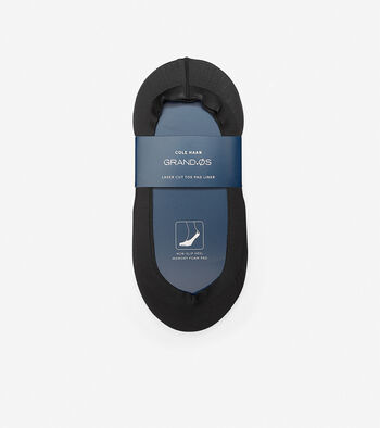 Grand.ØS Lazer Cut Memory Foam No-Show Socks