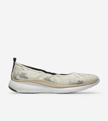 Women's 3.ZERØGRAND Rouched Slip-on Ballet Flat
