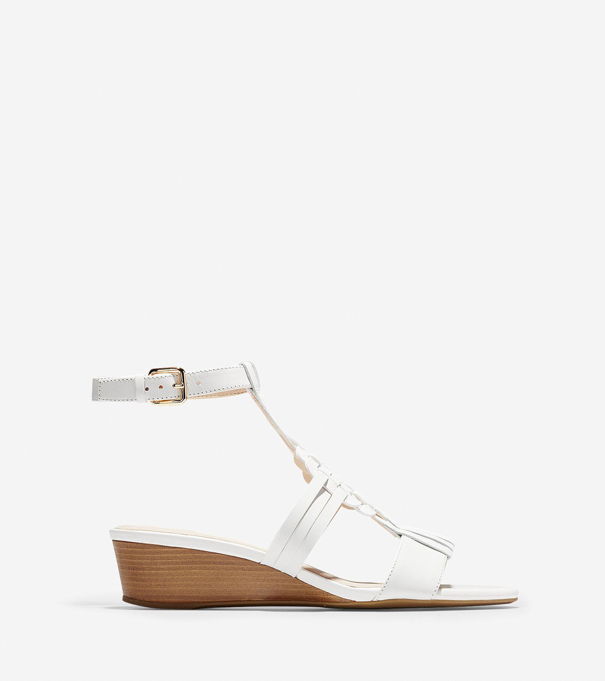 e07686274c65 Women s Findra Woven Slide Wedge Sandals in White
