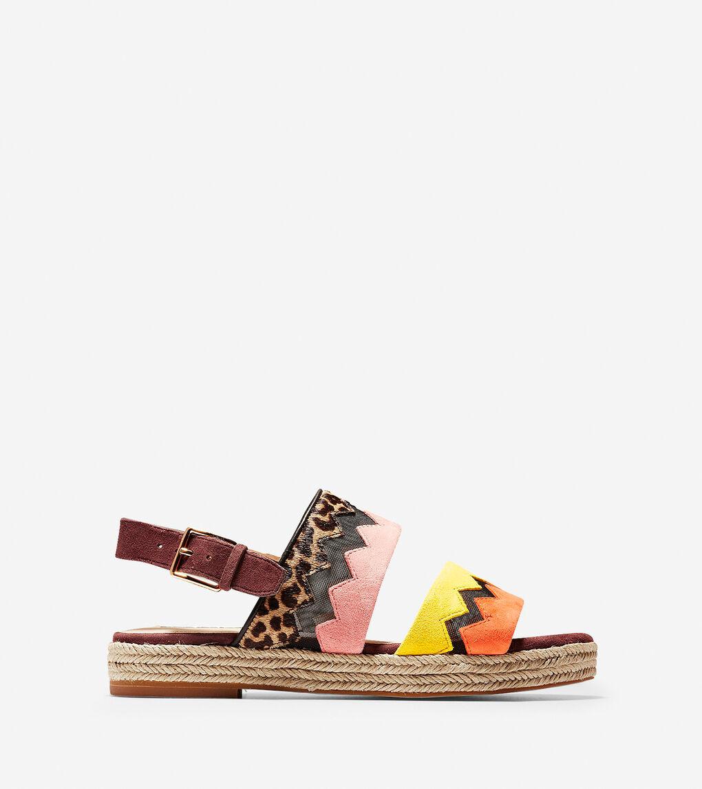 3d1e7311c94e Women's Emilia Espadrille Flat Sandals in Ocelot Haircalf | Cole Haan