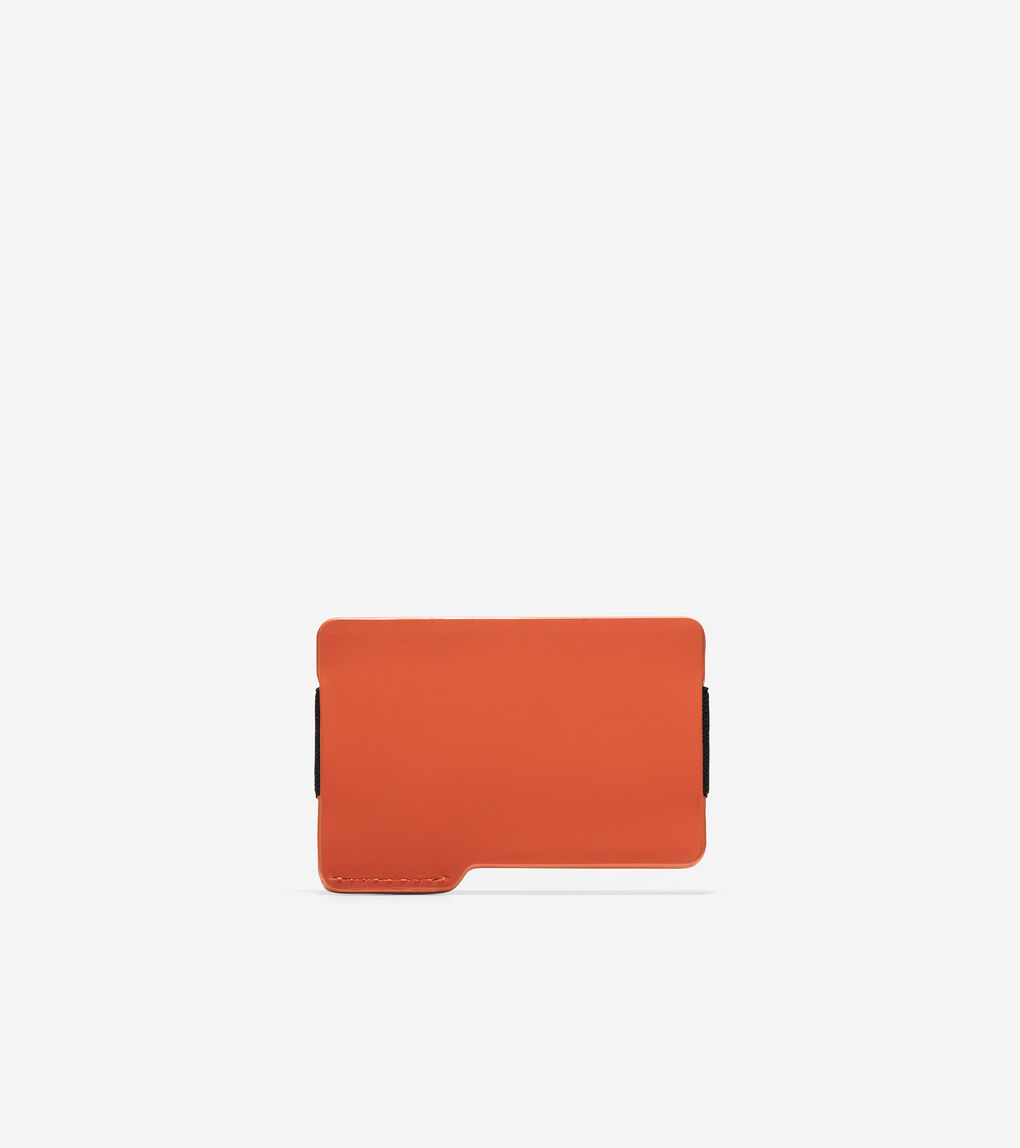 MENS ZERØGRAND Rubberized Leather Card Case