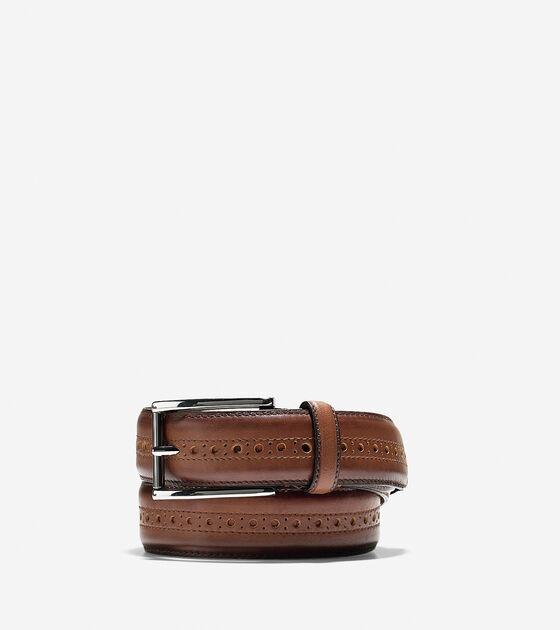 Belts > Hamilton Grand 32mm Brogued Belt