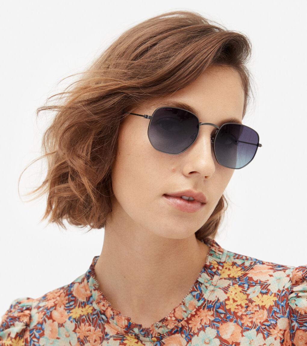 MENS Rounded Hexagon Sunglasses