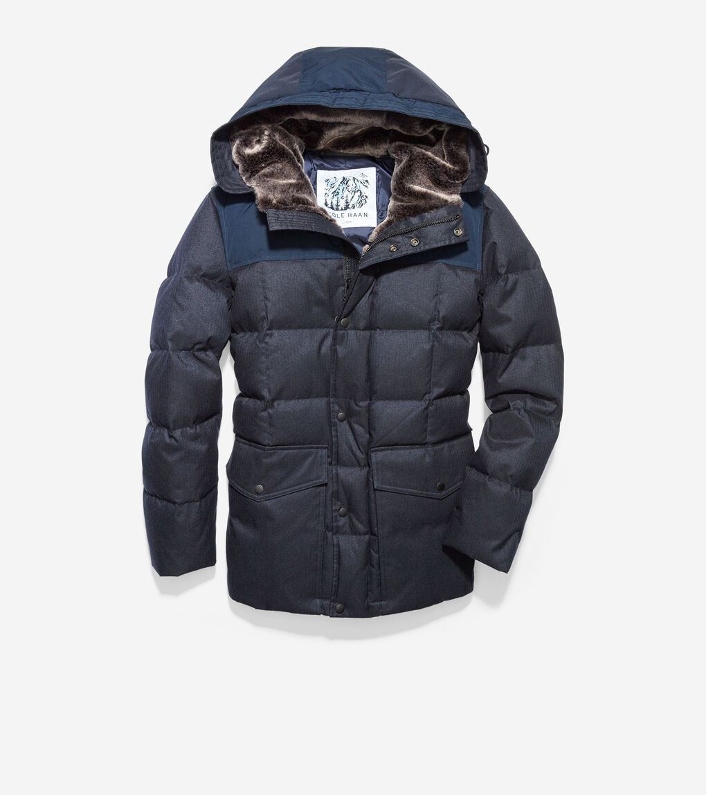 MENS Flannel Down Jacket