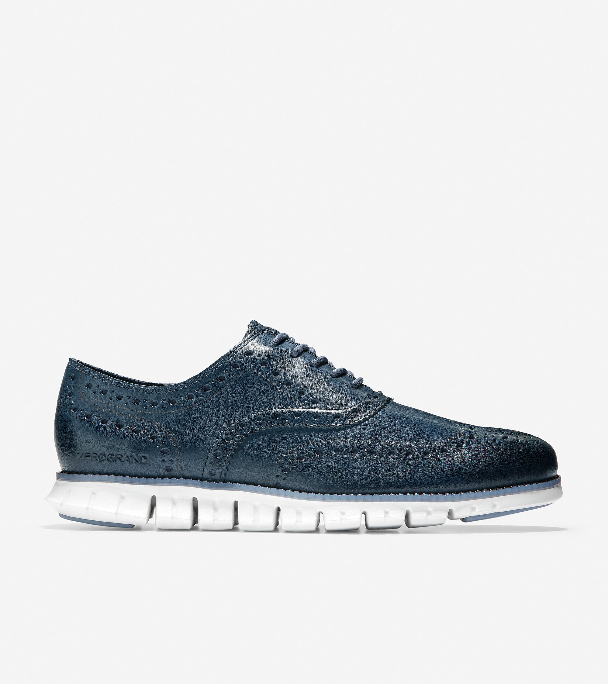 Wingtip Oxford in Deep Navy Leather