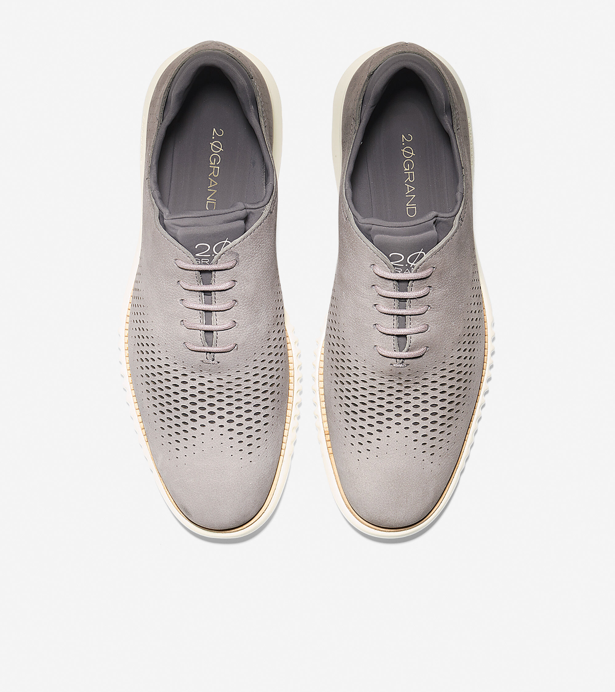 60fff3f2f1c 2.ZEROGRAND Laser Wingtip Oxfords in Ironstone-Ivory