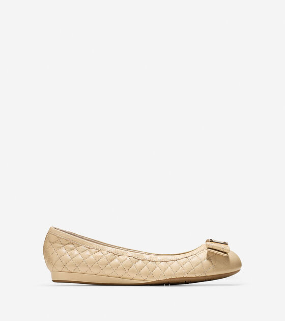 Ballet Flats > Emory Quilted Bow Ballet Flat