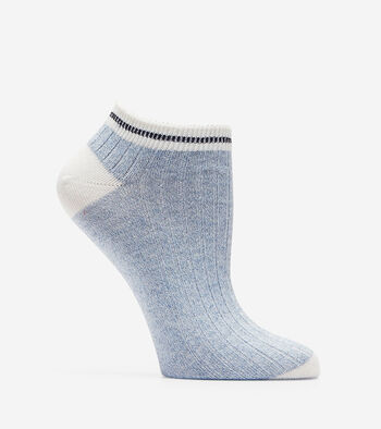Melange Rib Low Cut Socks
