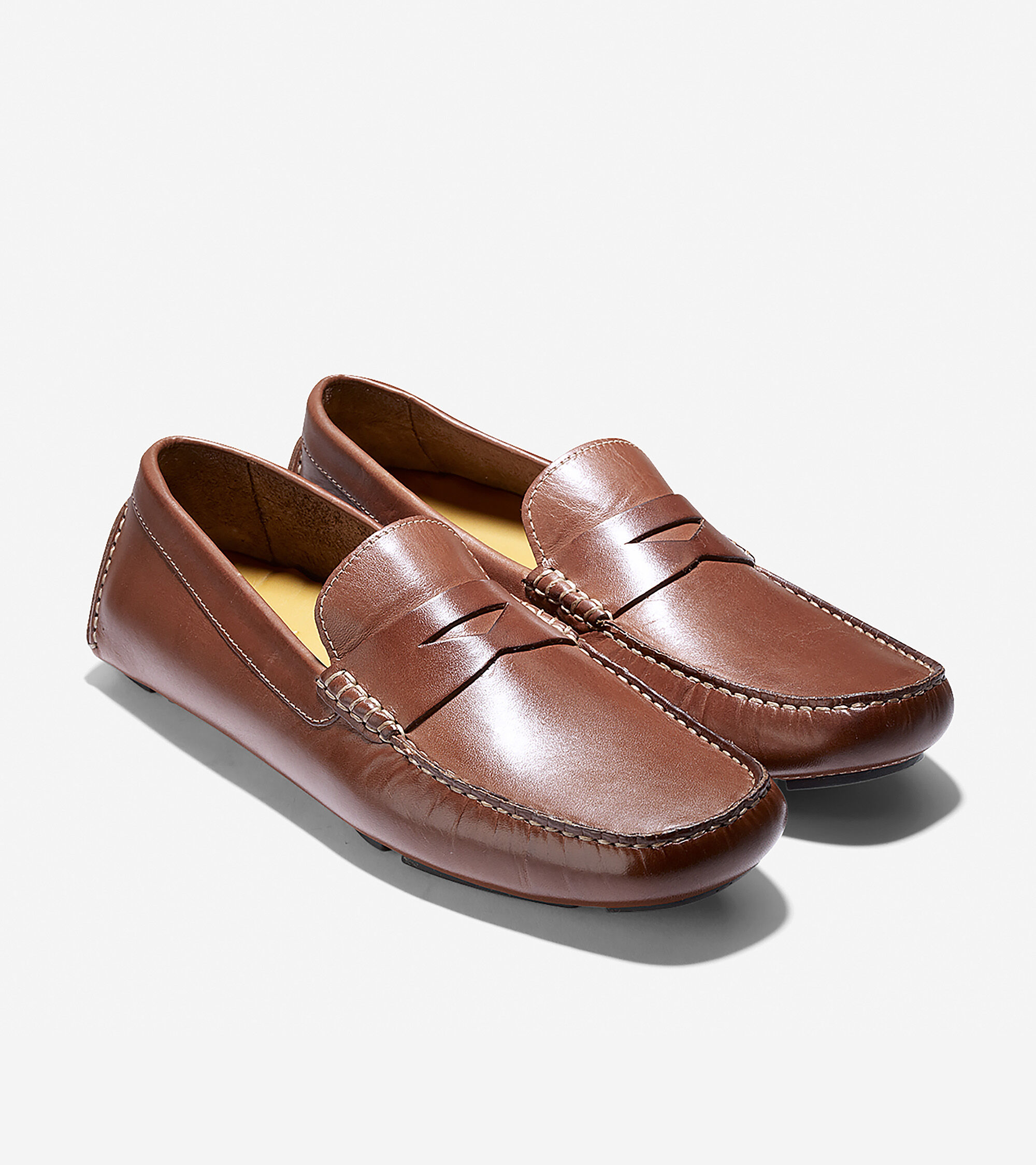 Howland Penny Loafer in Saddle Tan