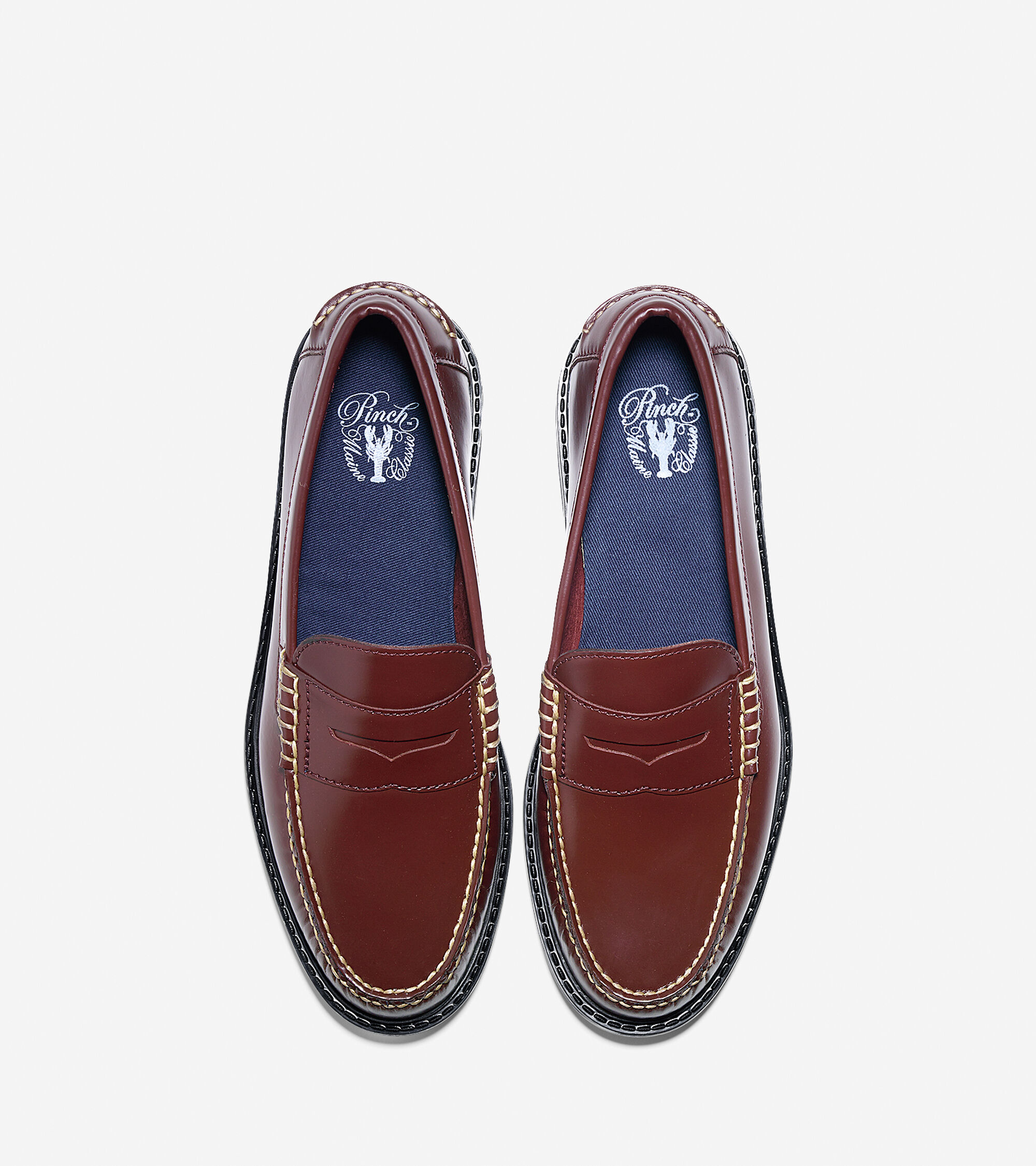 b9e7624d4db Mens Pinch Campus Penny Loafers in Crimson