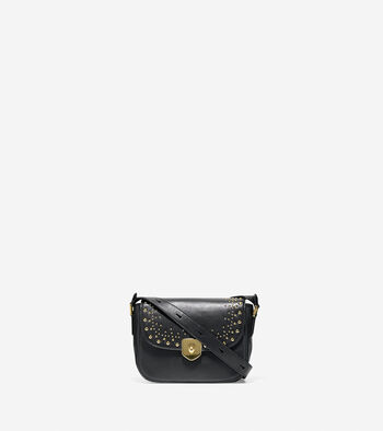 Marli Studded Mini Saddle Bag