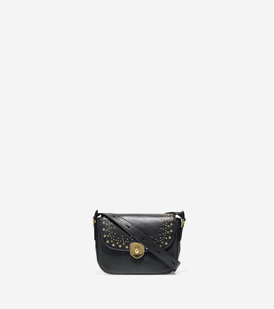 Bags & Outerwear > Marli Studded Mini Saddle Bag