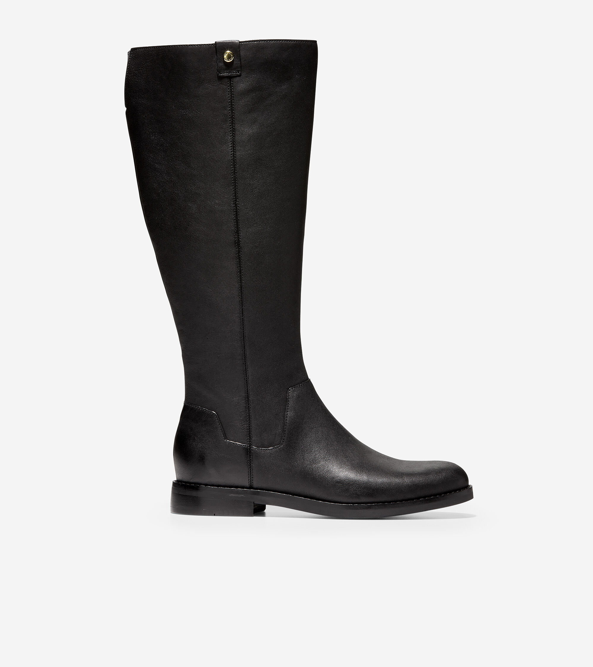 Calissa Riding Boot in Black Leather