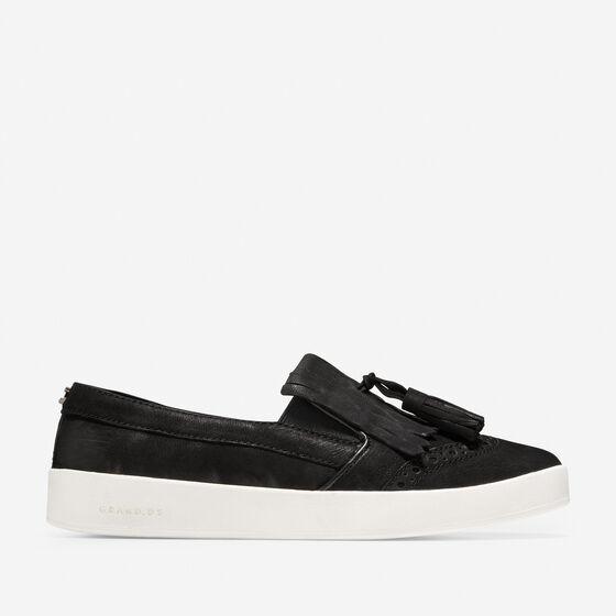 Sneakers > Women's GrandPrø Spectator Kiltie Tassel Slip-On Sneaker