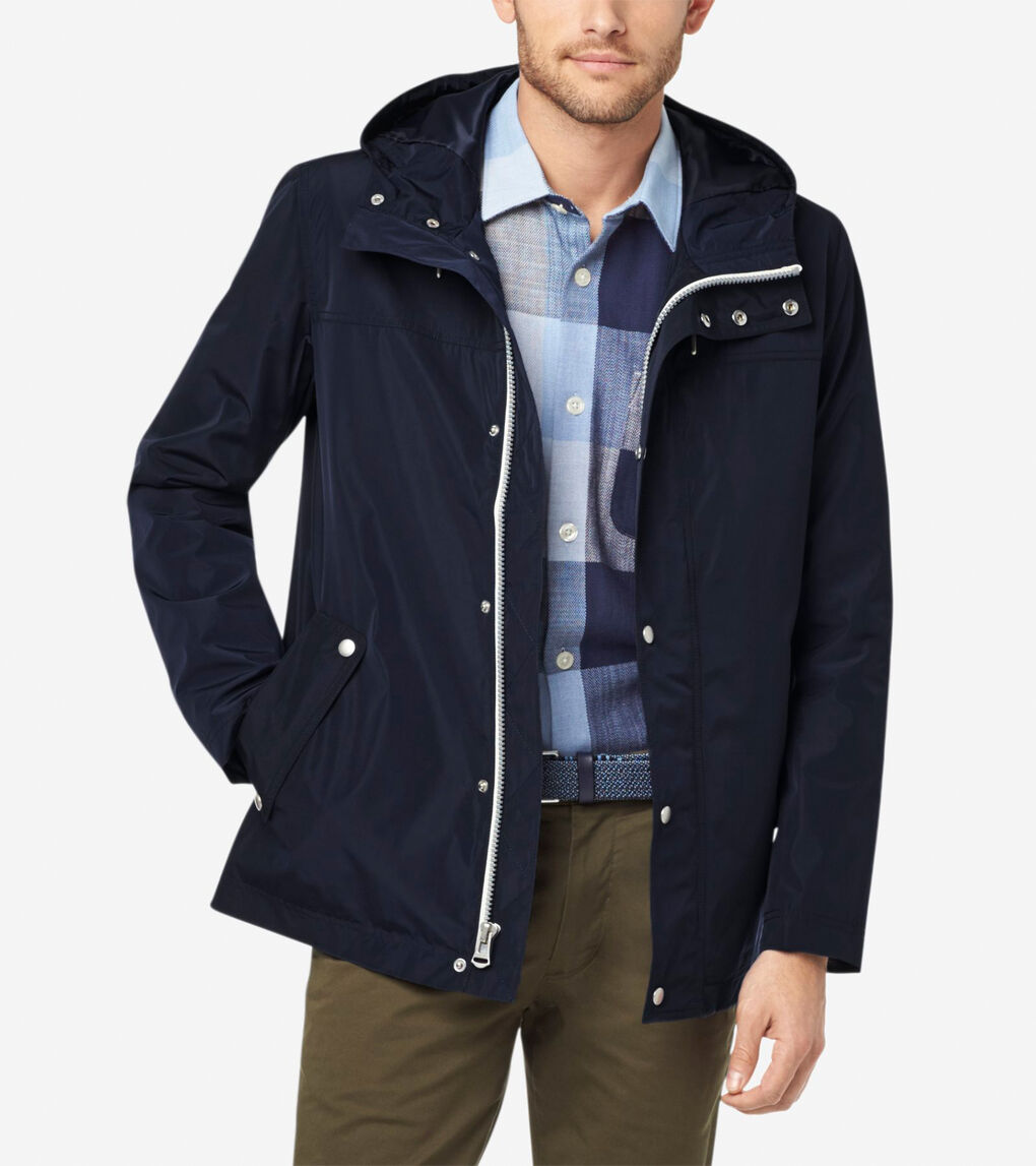 Mens Hooded Rain Jacket