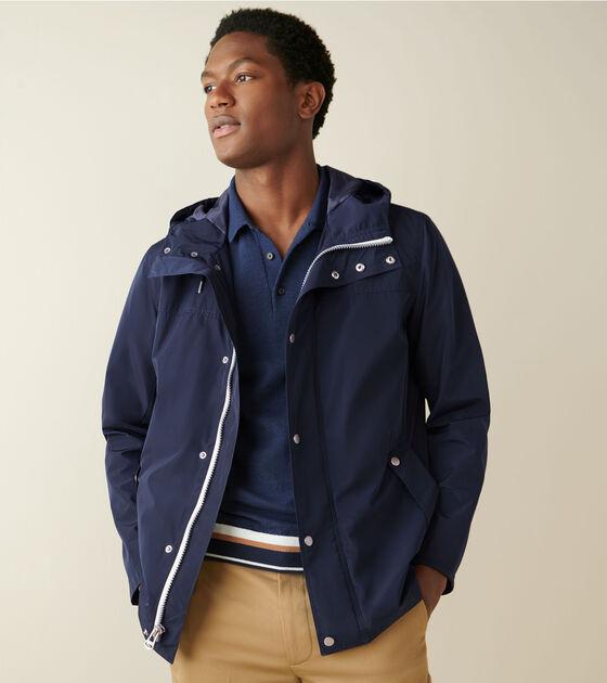 Outerwear > Hooded Rain Jacket