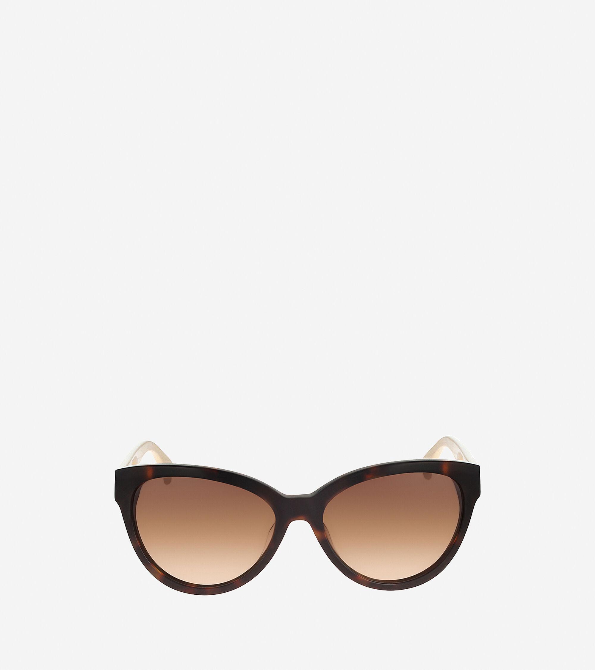 Cole Haan Cat Eye Acetate Sunglasses in Soft Tortoise : ColeHaan.com