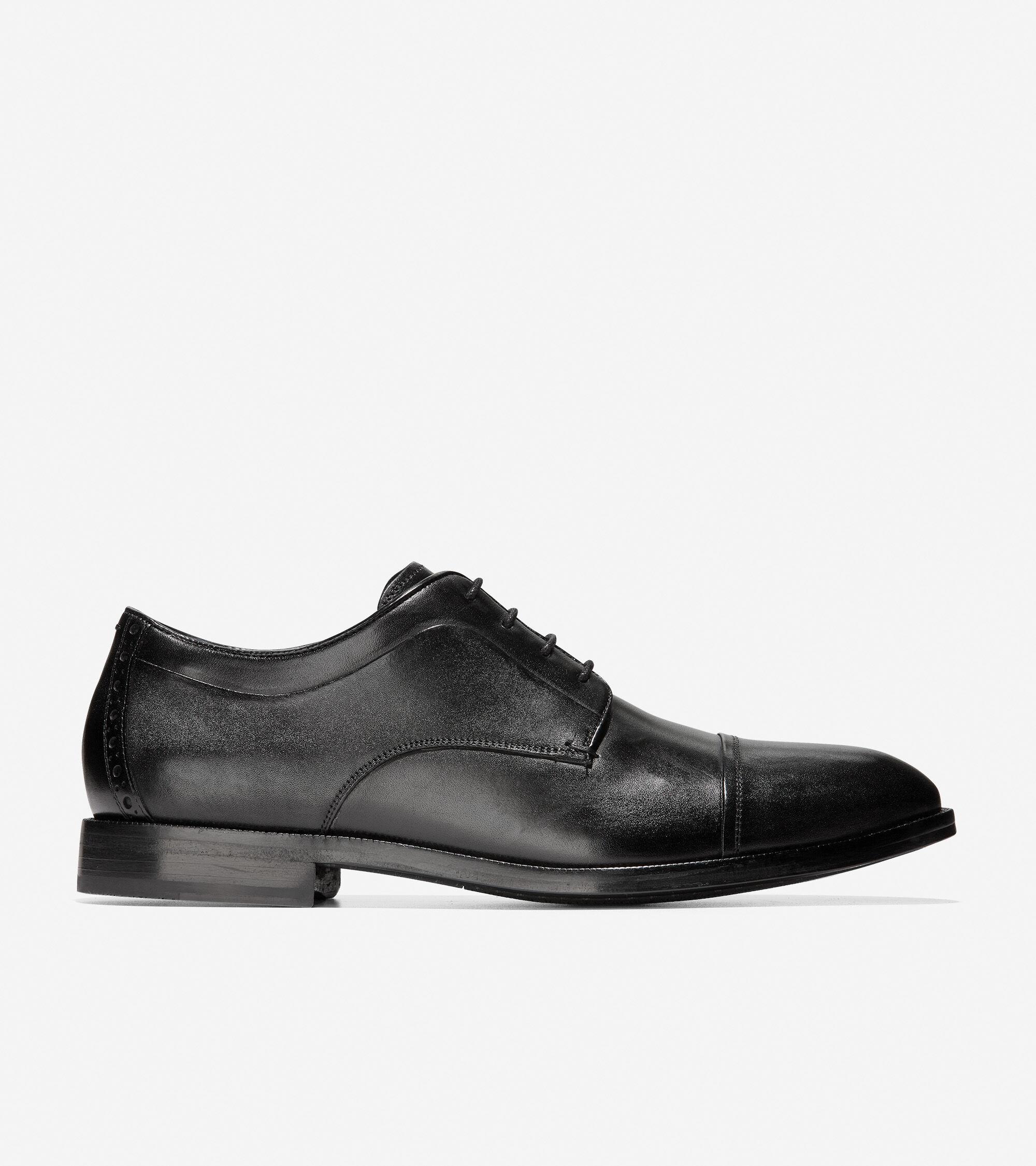 Men's Harrison Cap Toe Oxford in Black
