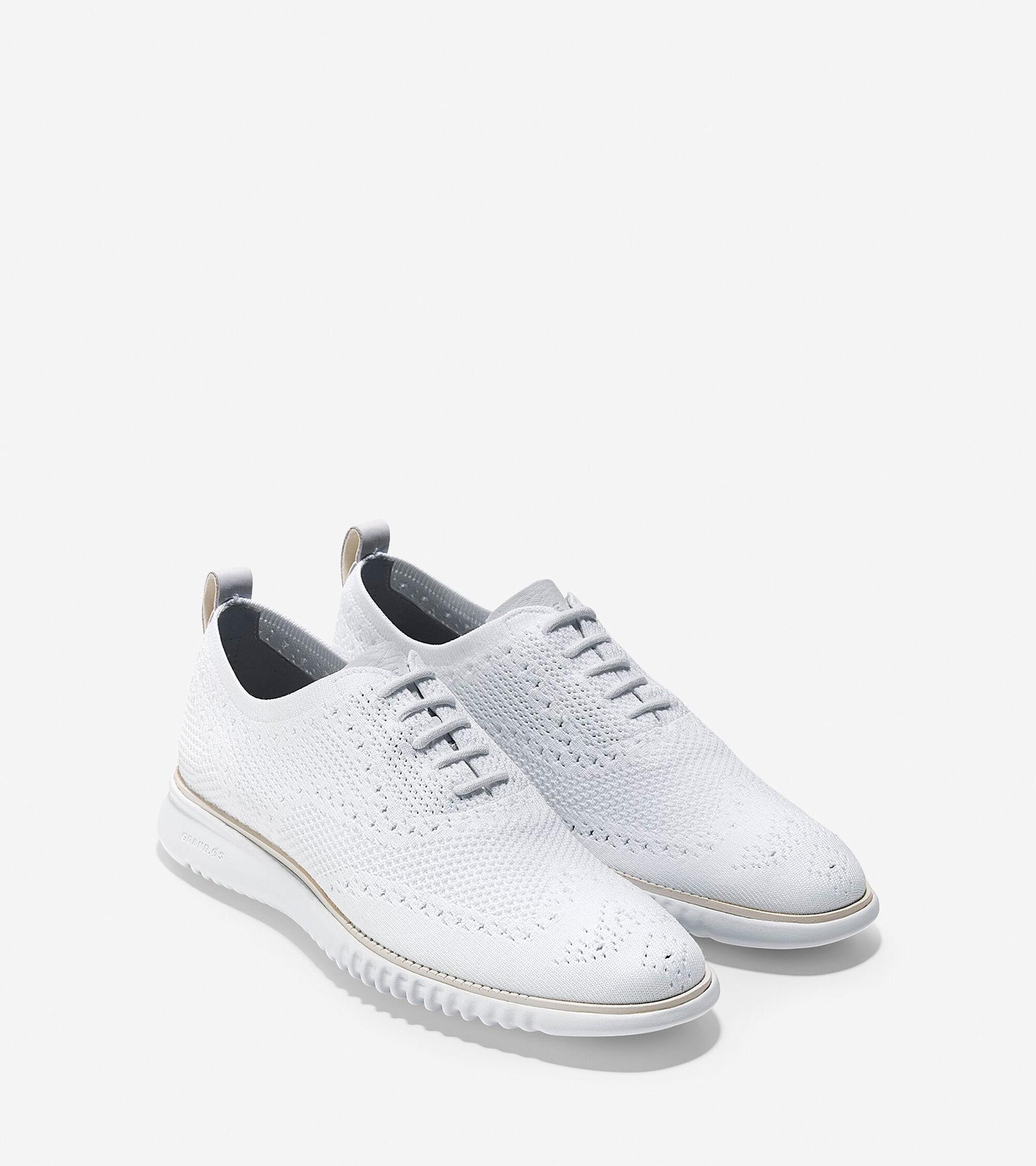 38db0979310488 Men s 2.ZEROGRAND Stitchlite Oxfords in White