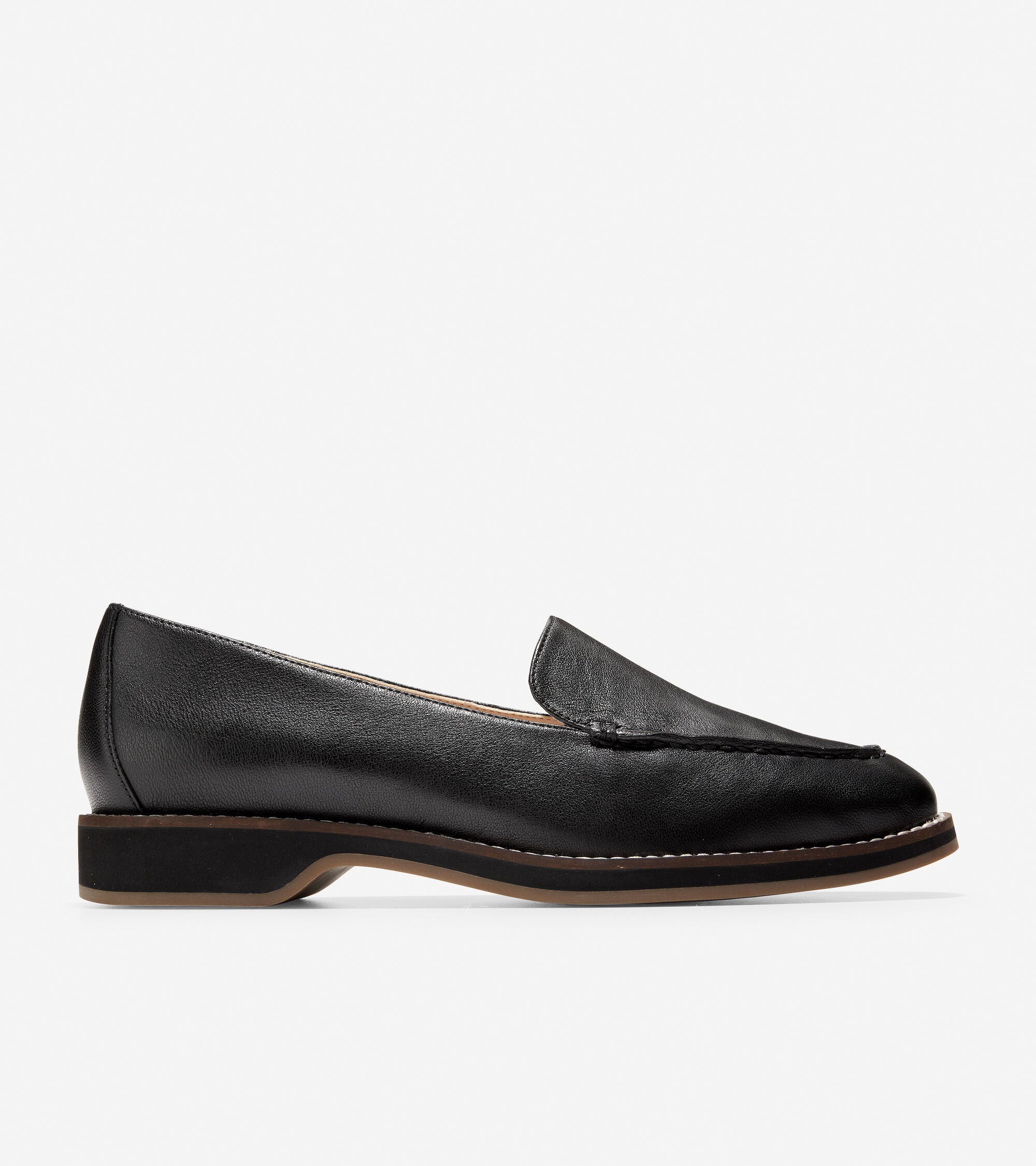 To Loafer in Black Grainy Leather
