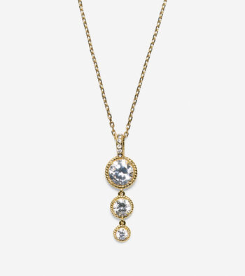 Brilliant Cubic Zirconia Delicate Linear Necklace