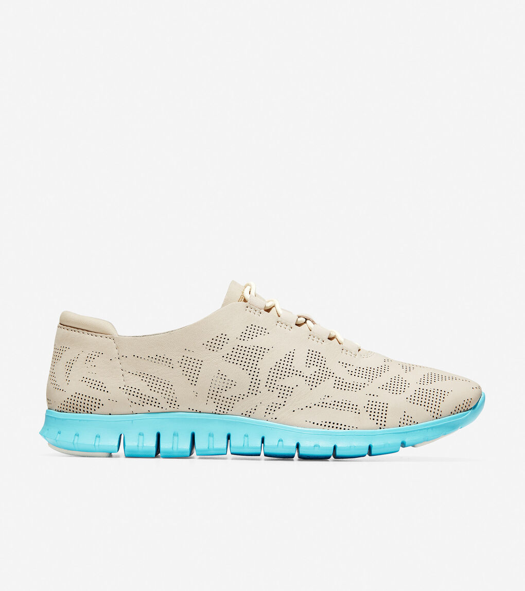 Womens ZERØGRAND Perforated Sneaker