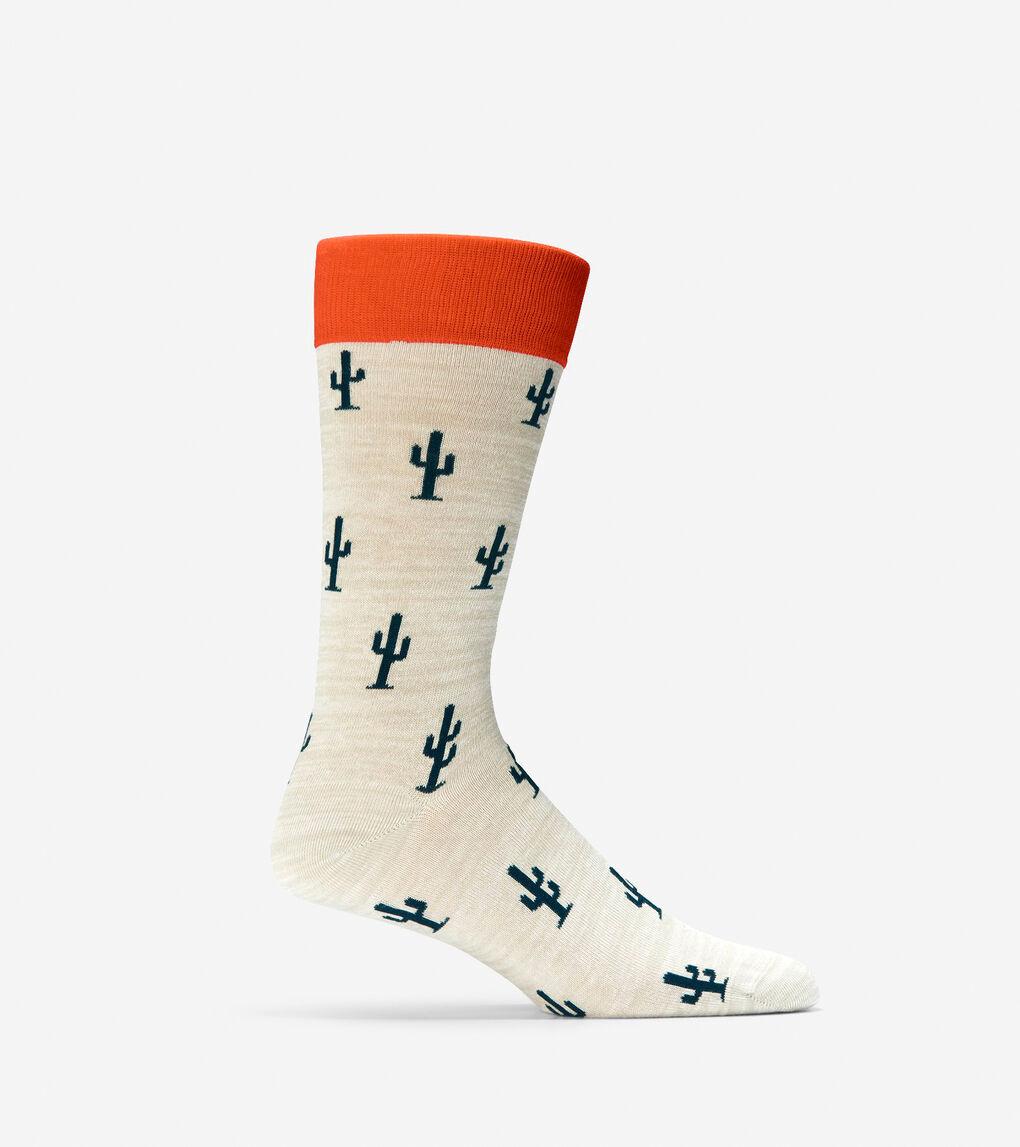 Mens Cactus Crew Socks