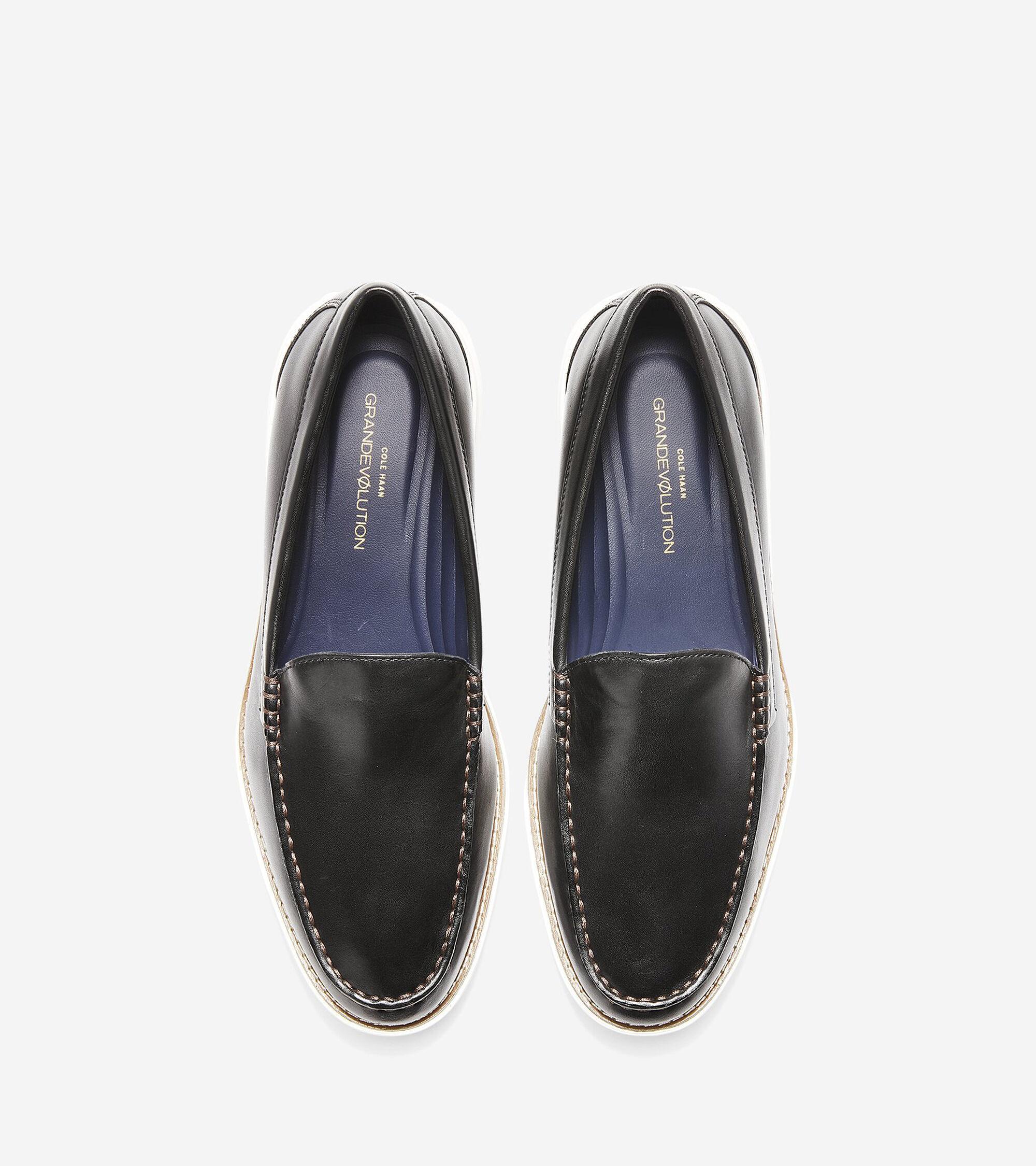 585d20313ac Men s GrandEvolution Venetian Loafers in Black-Ivory