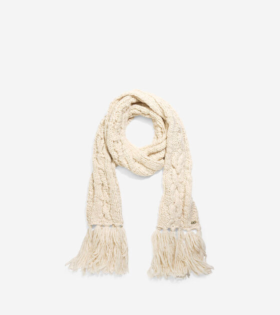 Accessories > Chunky Cable Muffler With Fringe