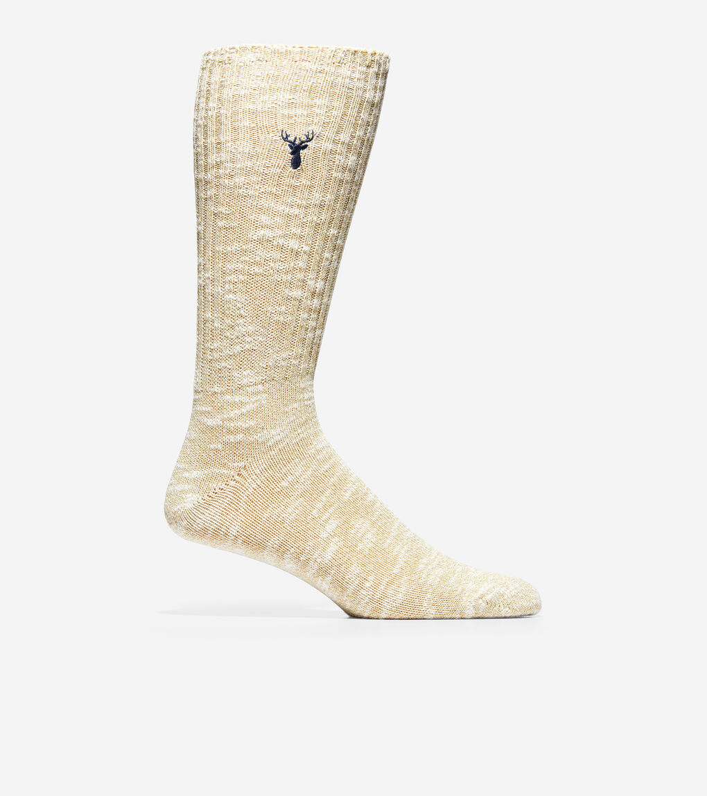 MENS Embroidered Classic Crew Socks