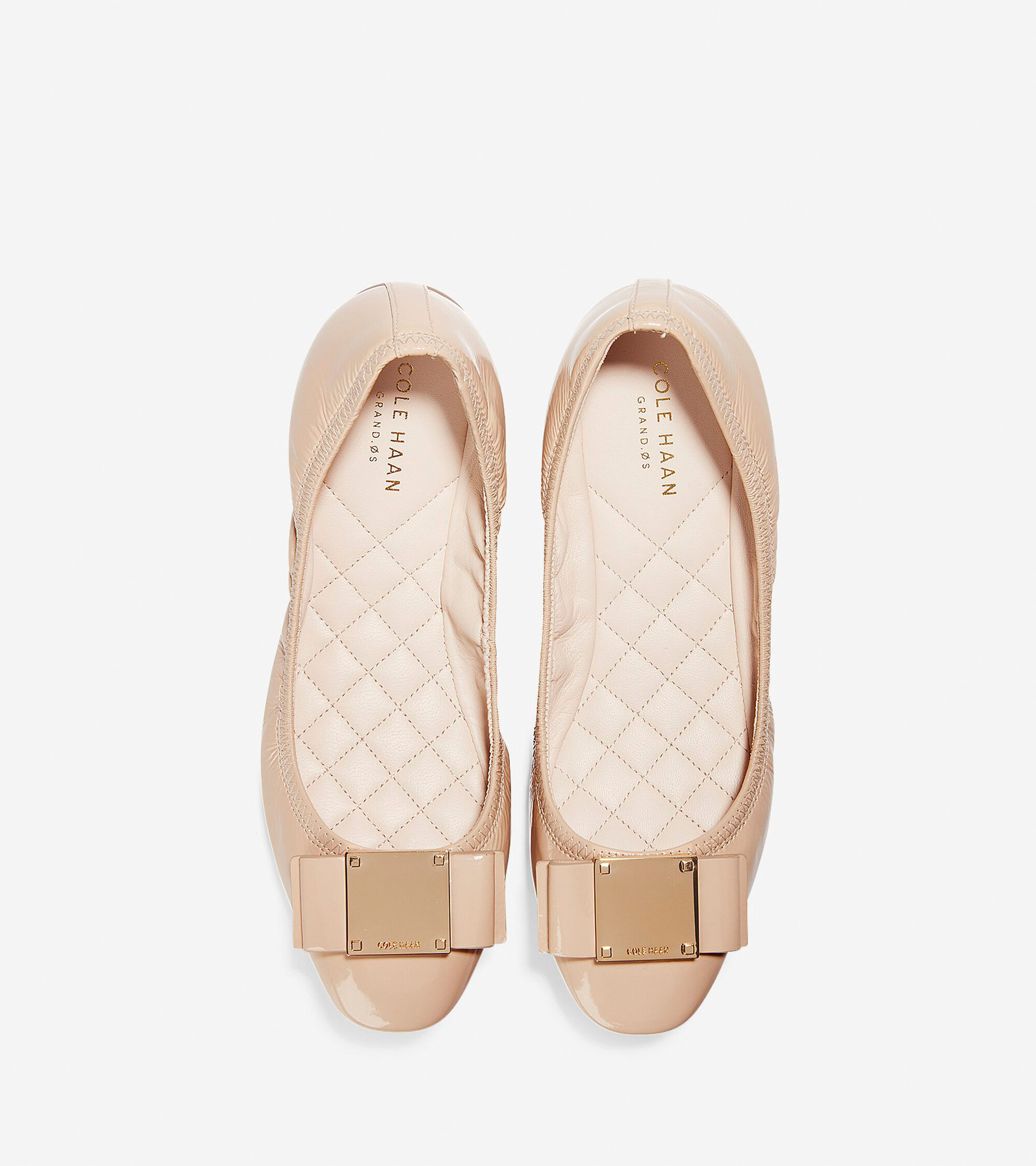 77bad9185a6 Women s Tali Modern Bow Ballet Flats in Nude Patent