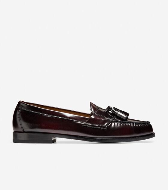 dfe15a0e583 Men s Pinch Tassel Loafers in Burgundy   Sale
