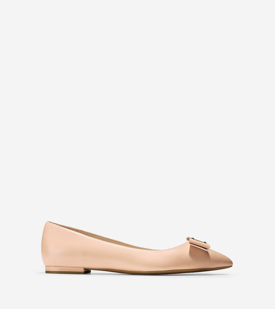 84b0e8a503a2 Women s Tali Bow Skimmer Flats in Nude