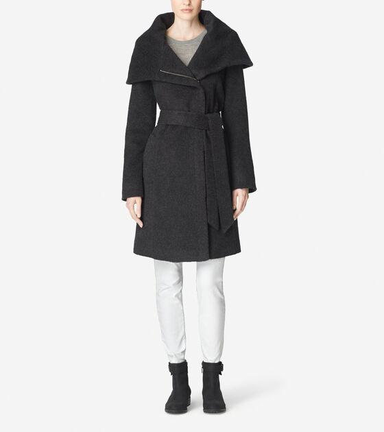 Accessories & Outerwear > Suri Alpaca Belted Coat