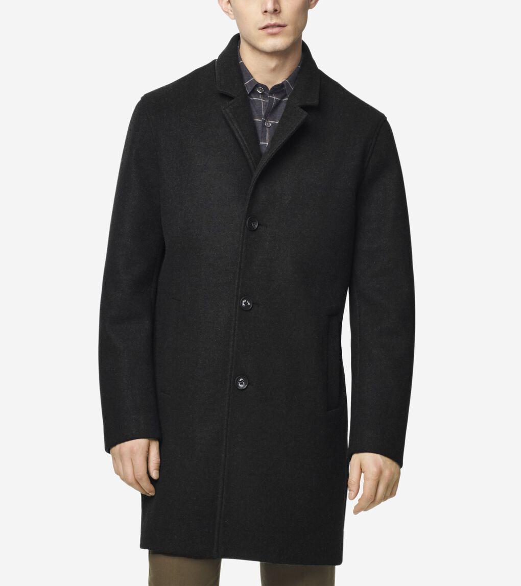 Mens GRANDSERIES Stretch Wool Top Coat