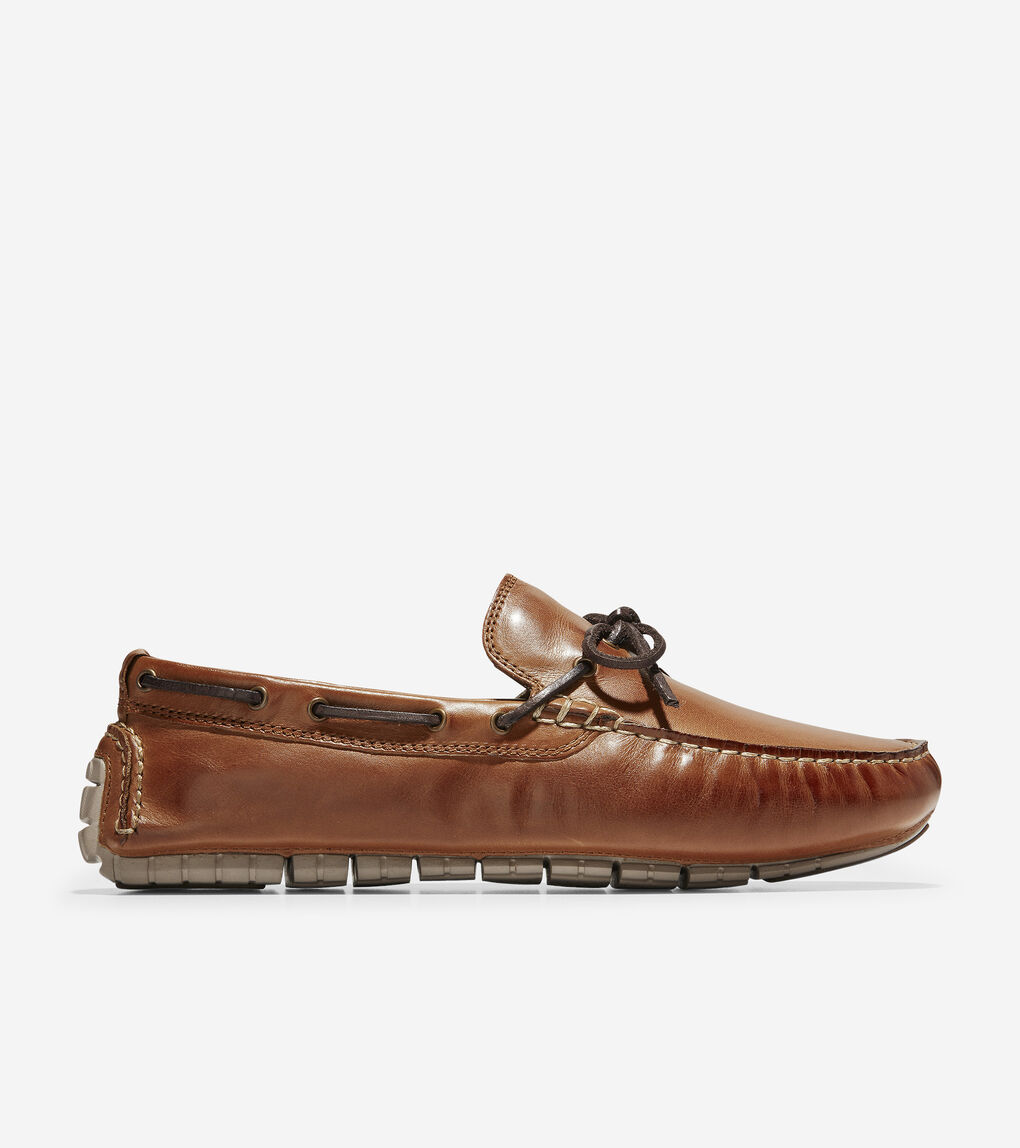 347c280046f Men's ZERØGRAND Driver in Papaya Leather | Cole Haan US
