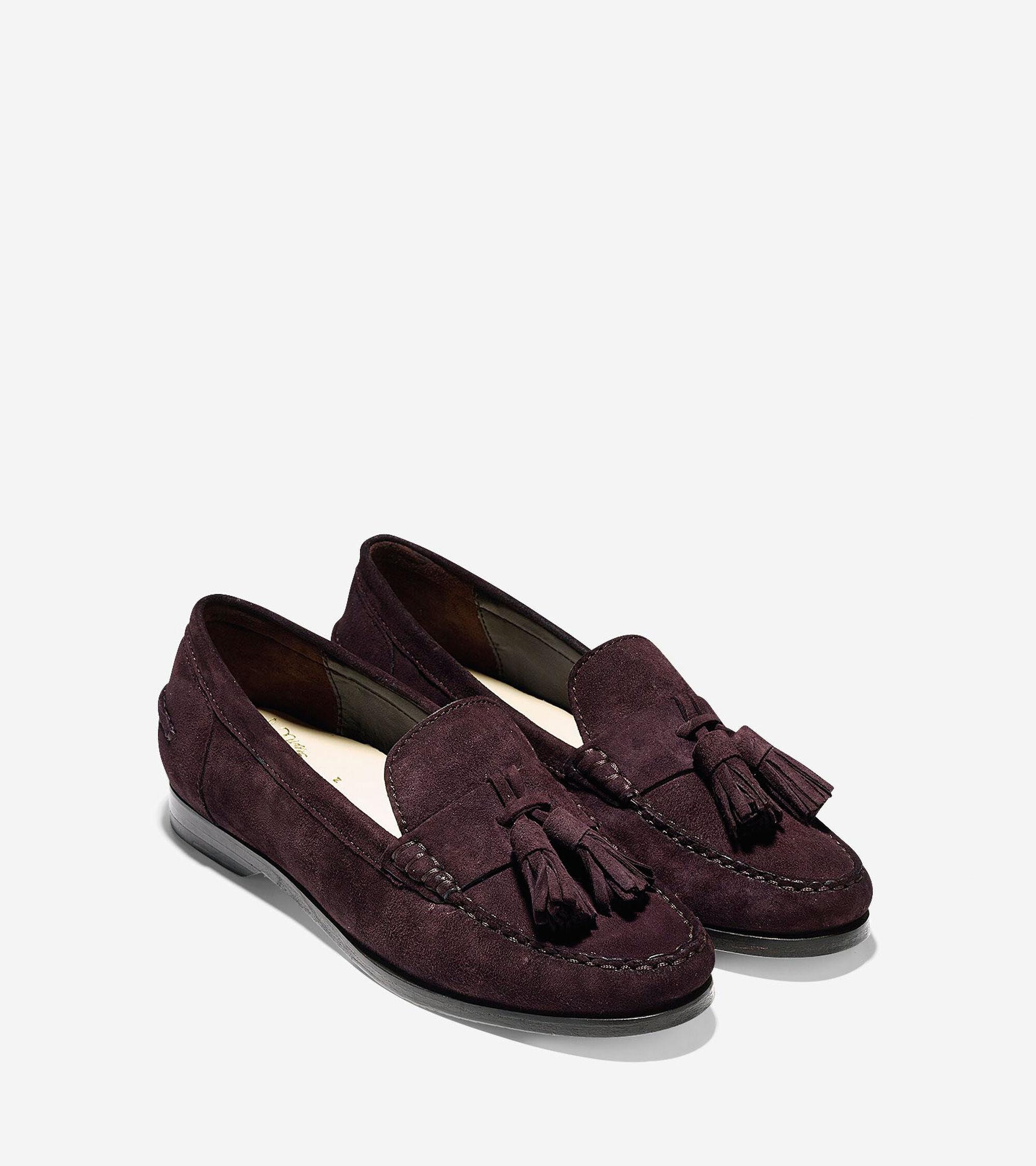 d8120534b35 Pinch Grand Tassel Loafers in Chestnut Suede