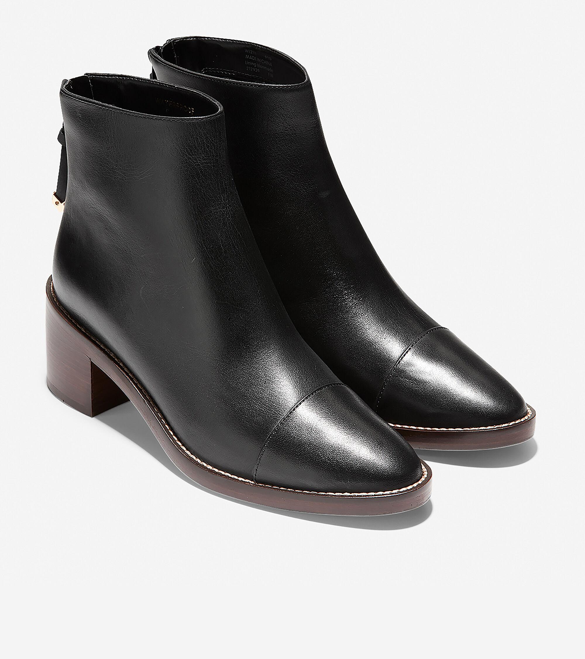 Winnie Grand Bootie in Black Leather