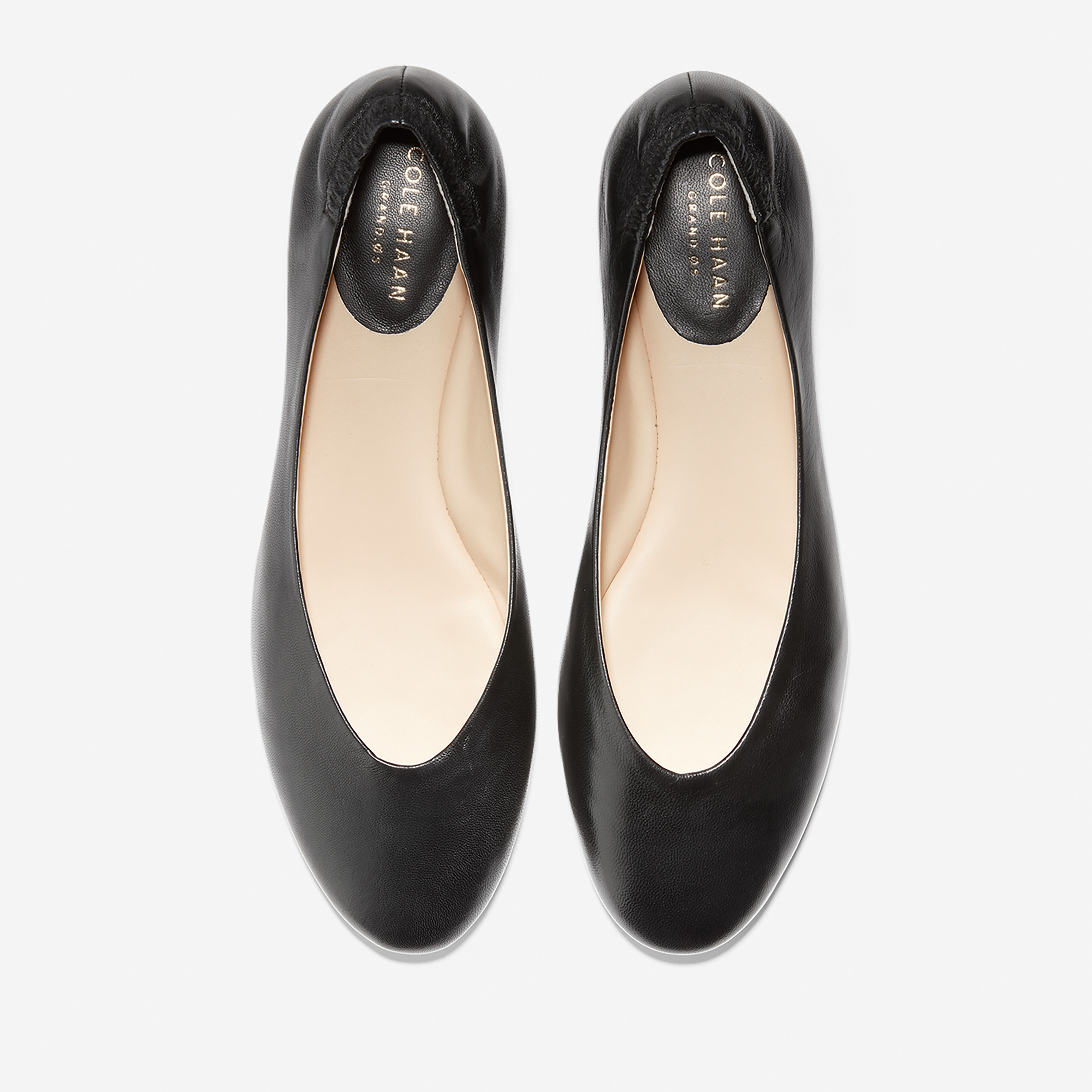 Kaia Ballet Flat in Black Leather