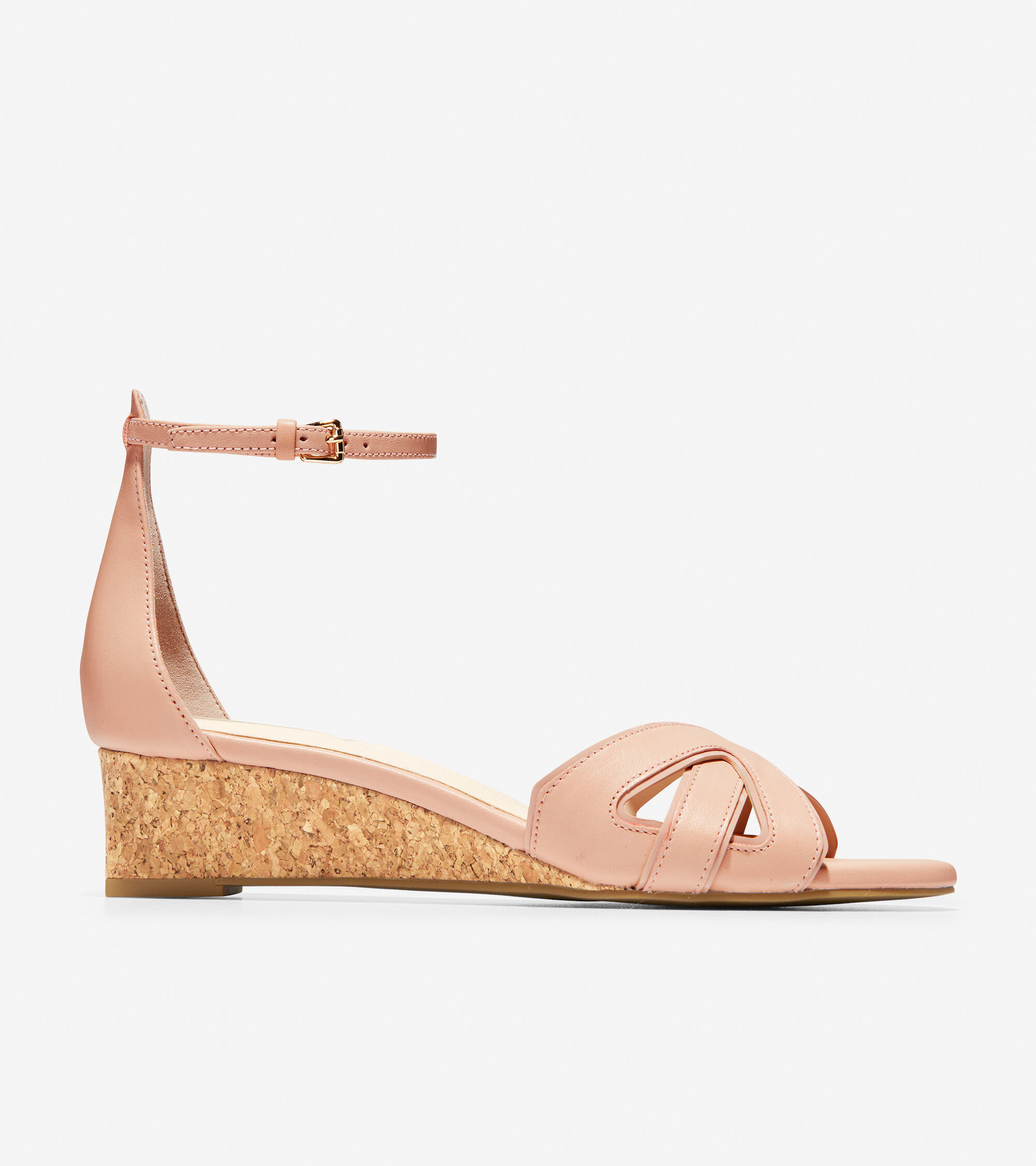 56caf8e7b Cole Haan Hana Grand Wedge in Mahogany Rose Leather-Patent Cork    ColeHaan.com