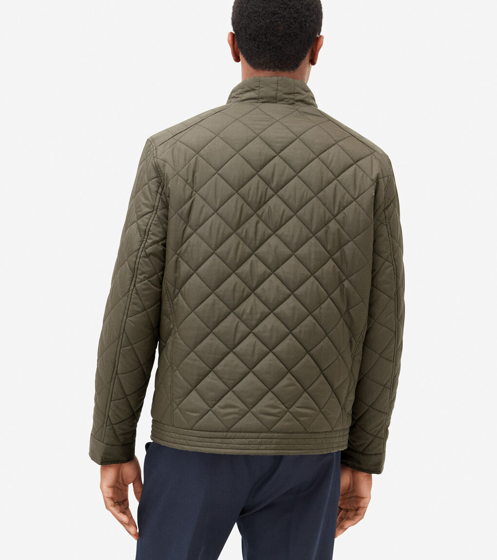 MENS Modern Quilted Bomber Jacket