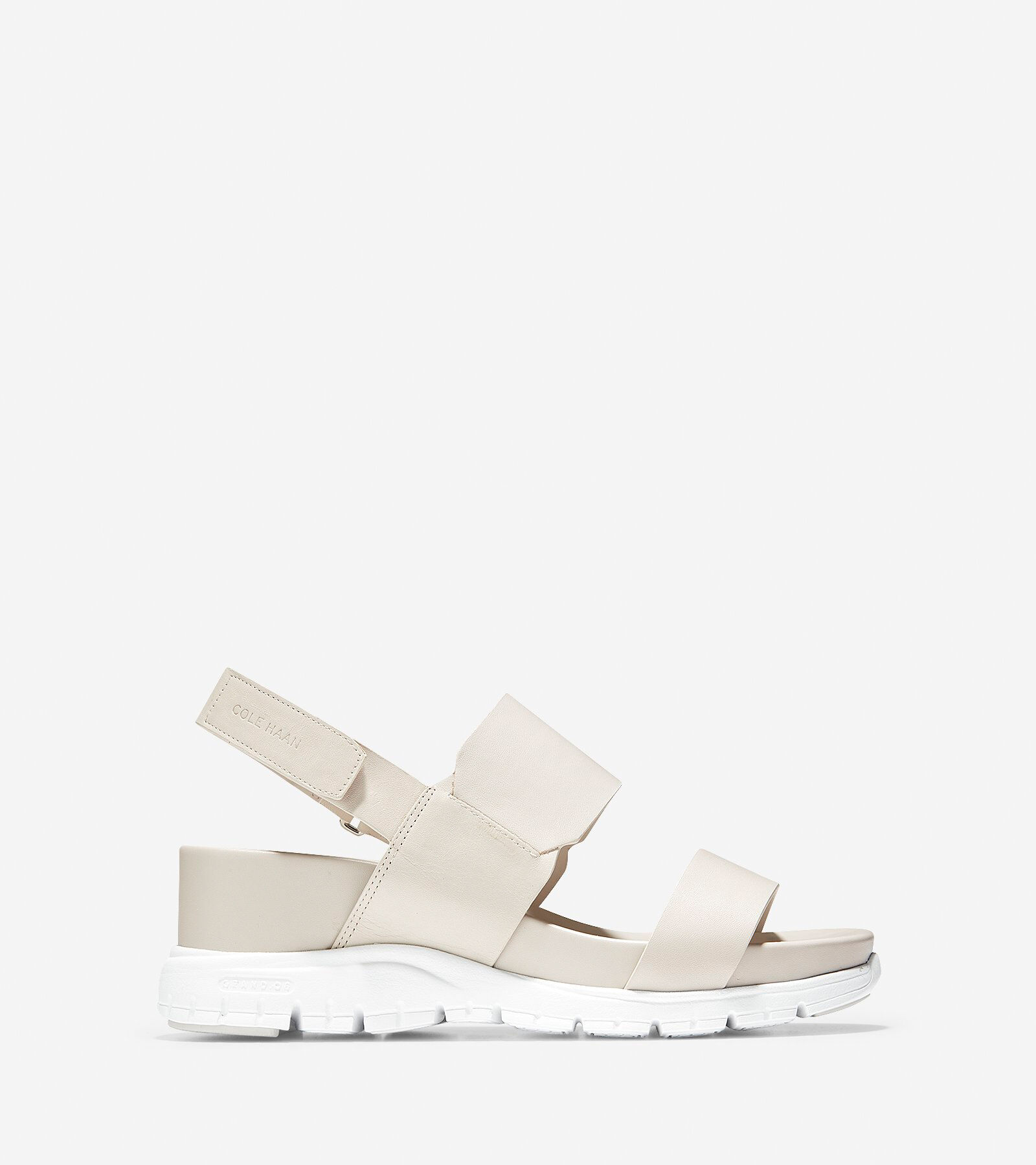 Wedge Sandal in Pumice Stone Leather