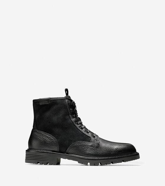 36218be31100 Men s Grantland Waterproof Plain Toe Lace Up Boots in Black